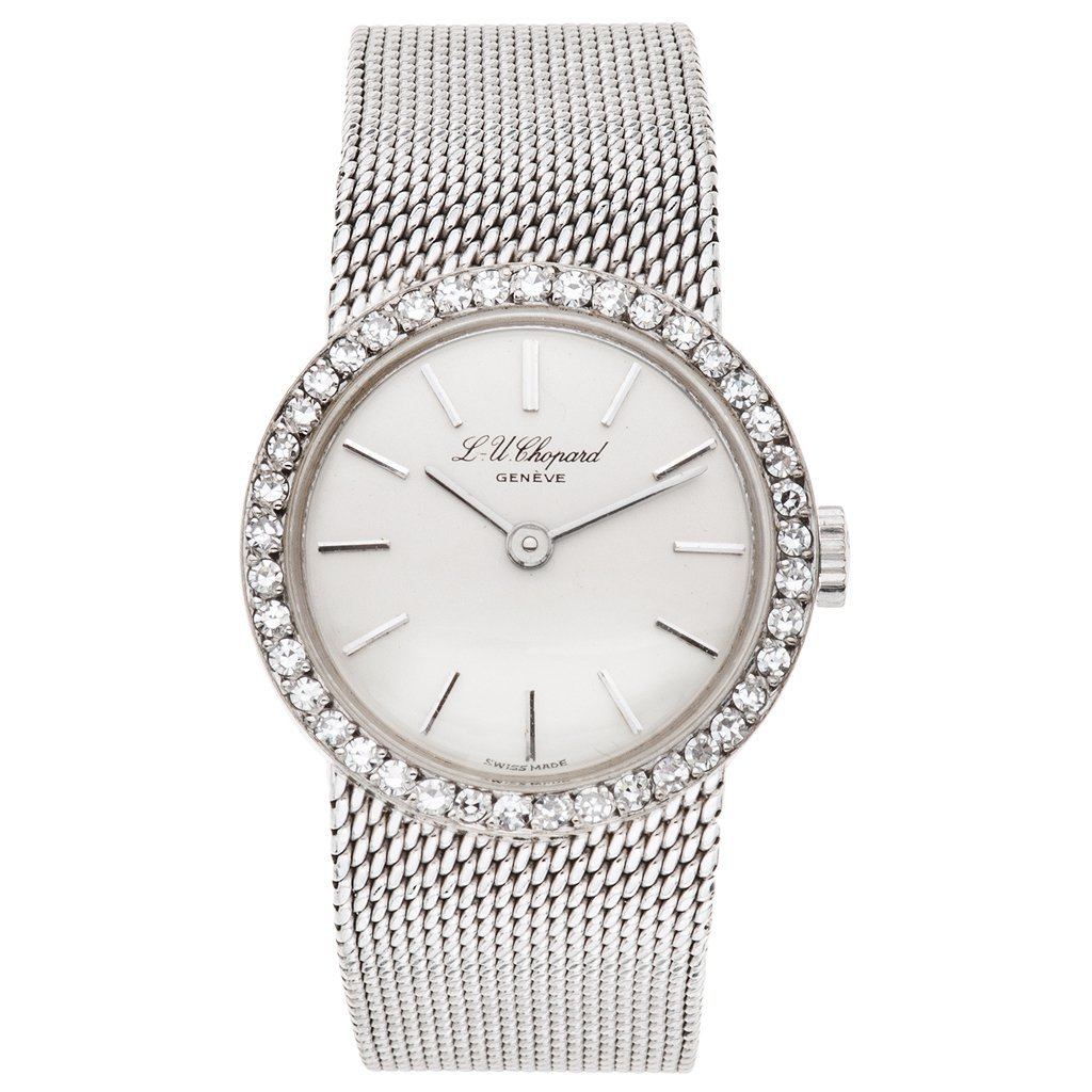 A L. U. CHOPARD wristwatch. 18K white gold case and