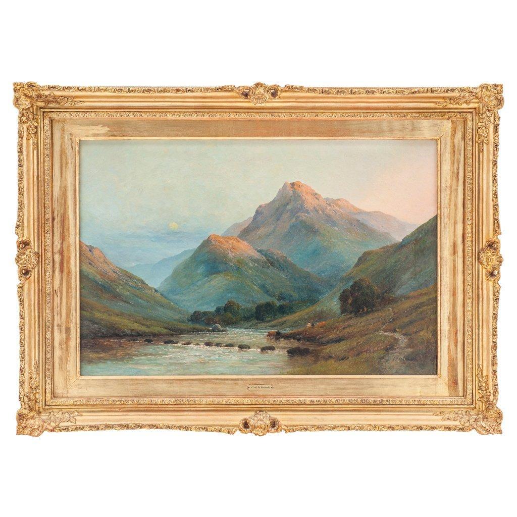 ALFRED DE BREANSKY (ENGLAND, 1852-1928). LANDSCAPE WITH