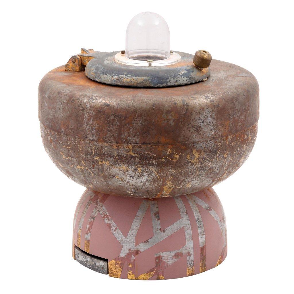 Metal table lamp. For 1 light bulb. Designed from