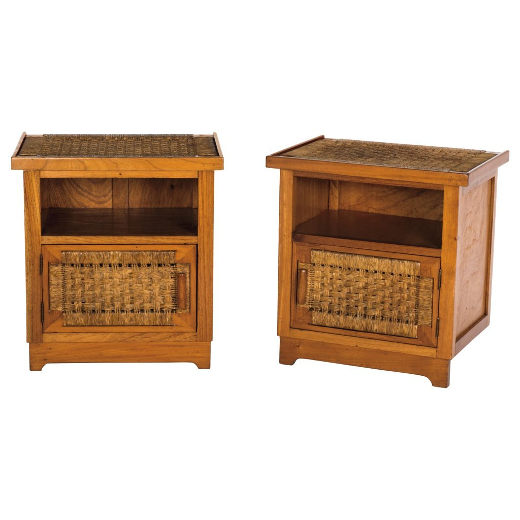 Muebles Toluca. Mexico. 1950 s. Pair of mahogany and