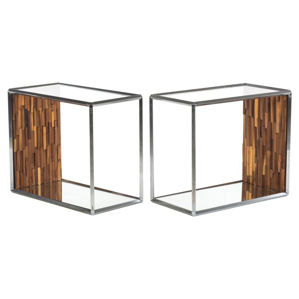 IDEA Furniture. Mexico. 1970 s. Pair of chromed metal,