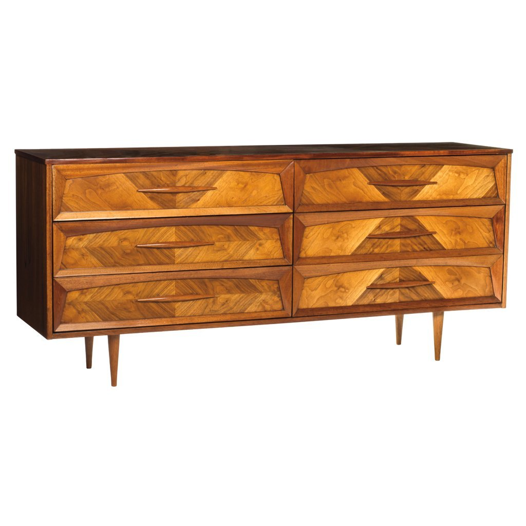 Michael Van Beuren. 1950 s. Mahogany chest of 6