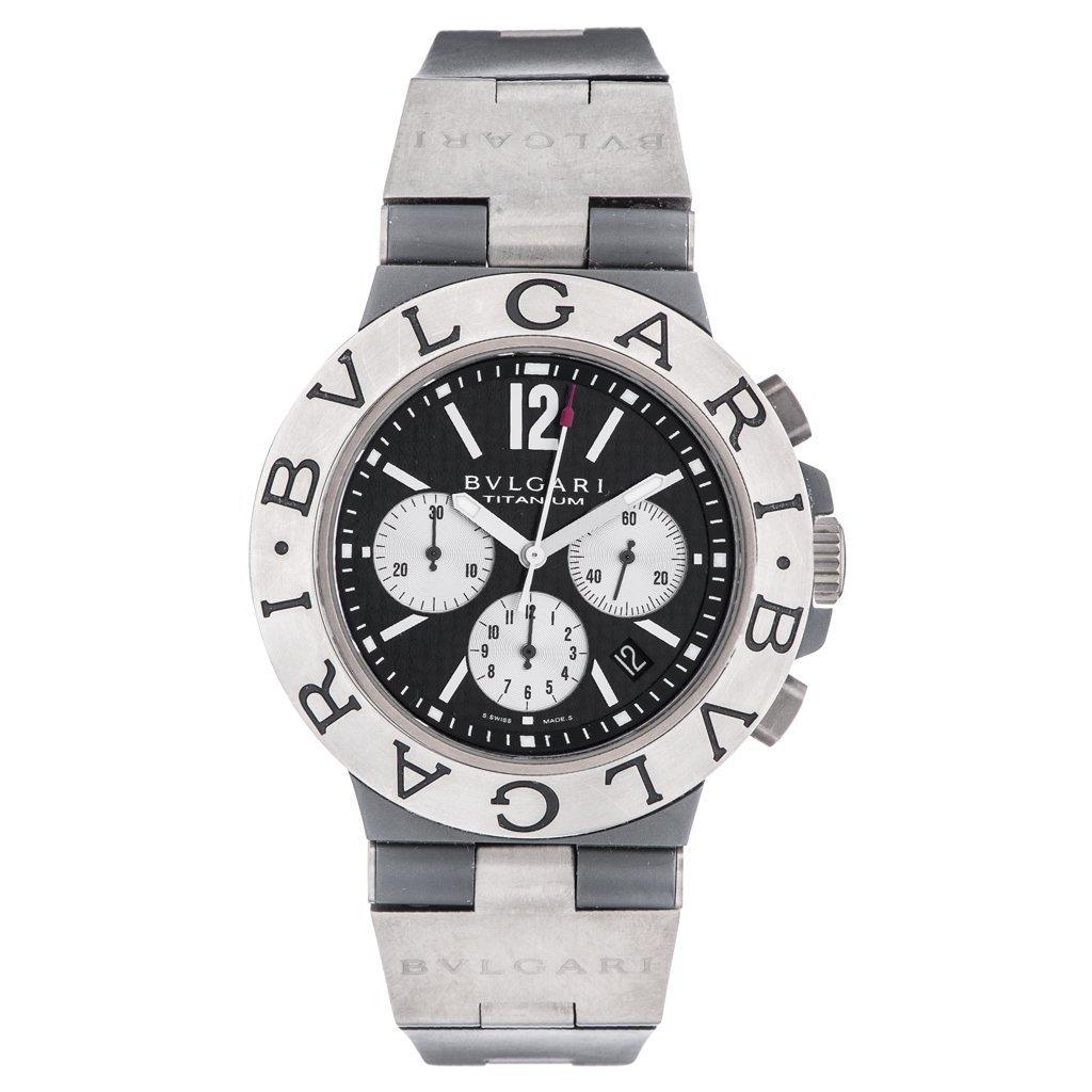 BVLGARI DIAGONO TITANIUM CHRONOGRAPH wristwatch.