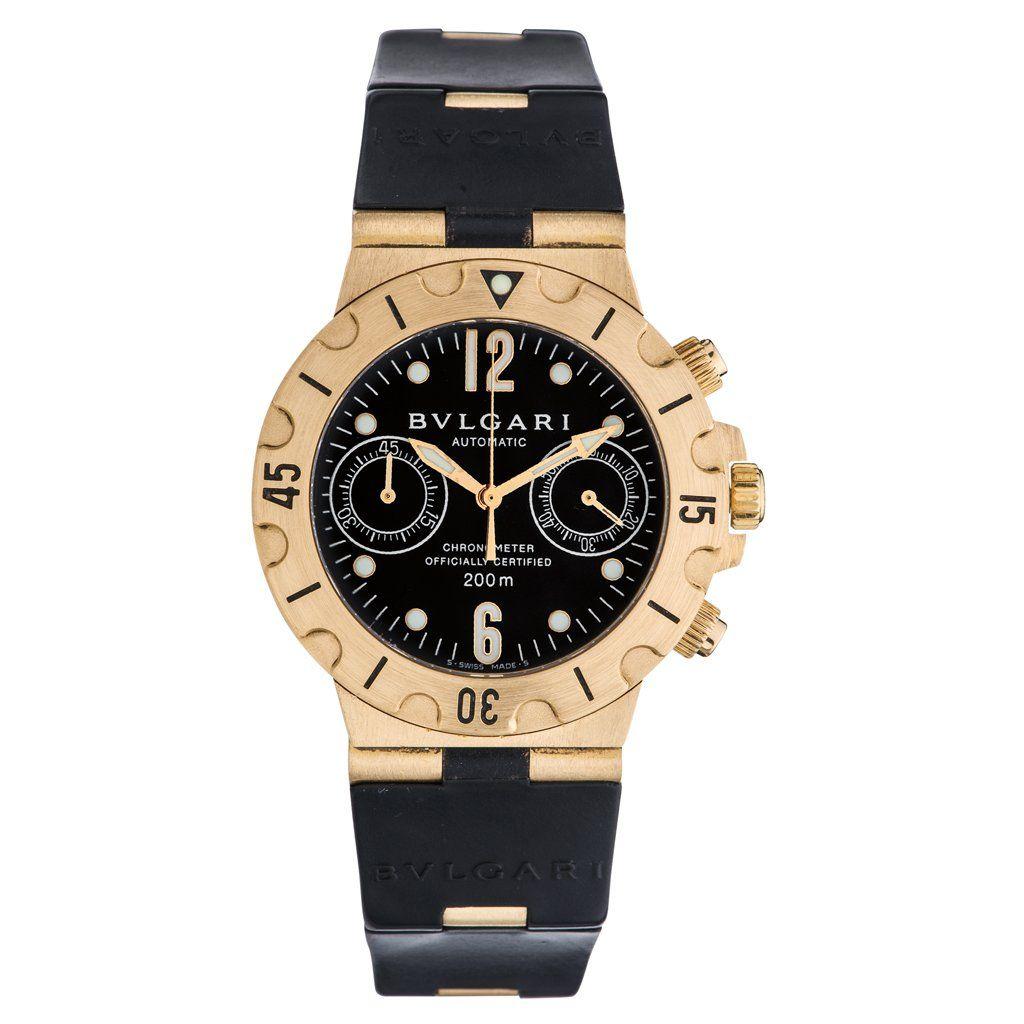 BVLGARI DIAGONO CHRONOMETER wristwatch. 18K yellow gold