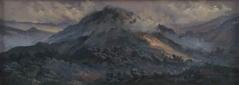 EDUARDO CASTELLANOS, Paisaje, Signed and dated 69, Oil