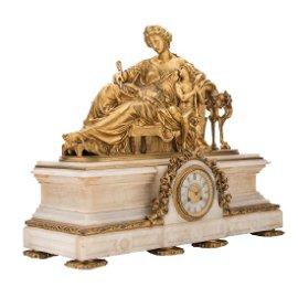 MANTEL CLOCK. FRANCE, 19th CENTURY. NAPOLEON III style.