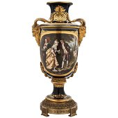 VASE. FRANCE, 19th CENTURY. Porcelain, detailed in