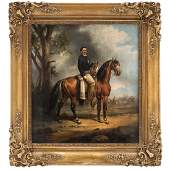 MANUEL SERRANO (MEXICO, 1814-1883). EQUESTRIAN PORTRAIT