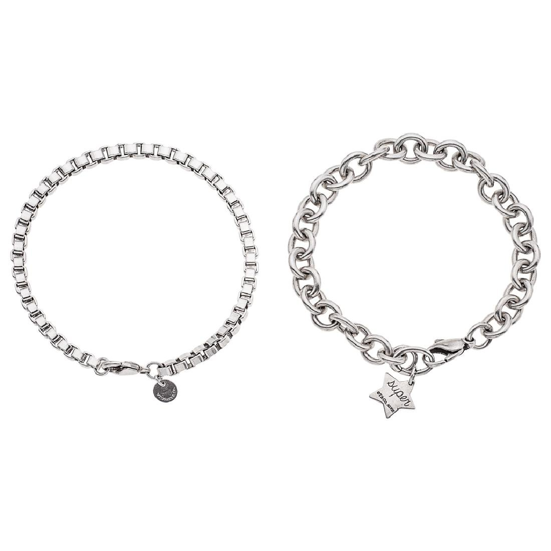 Two TIFFANY & CO. sterling silver bracelets. Weight: