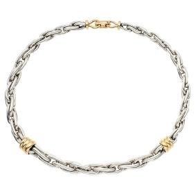 A TANE sterling silver and vermeil choker. Weight: