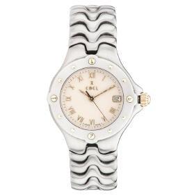 EBEL SPORTWAVE wristwatch. Steel and 18K yellow gold