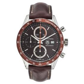 TAG HEUER CARRERA TACHYMETRE wristwatch. Steel case and