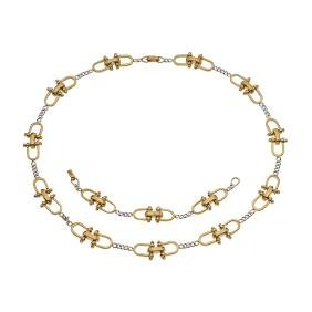 A TANE sterling silver and vermeil set of choker and