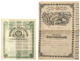 Banco de Guanajuato / Banco de Michoacan. actions.