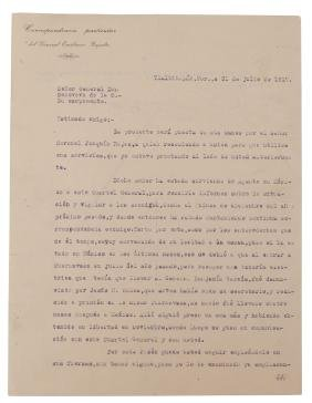 Zapata, Emiliano. Letter of Recommendation, Signed.
