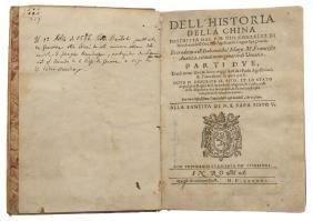 Gonzalez Di Mendoza, Gio. Dell' Historia della China.