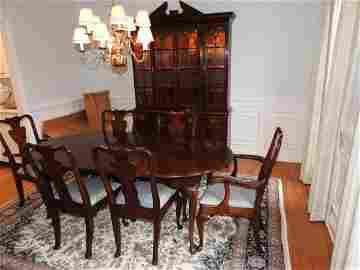 """9 PC. CHERRY QUEEN ANN DINING ROOM SET BY """" STATTON"""""""