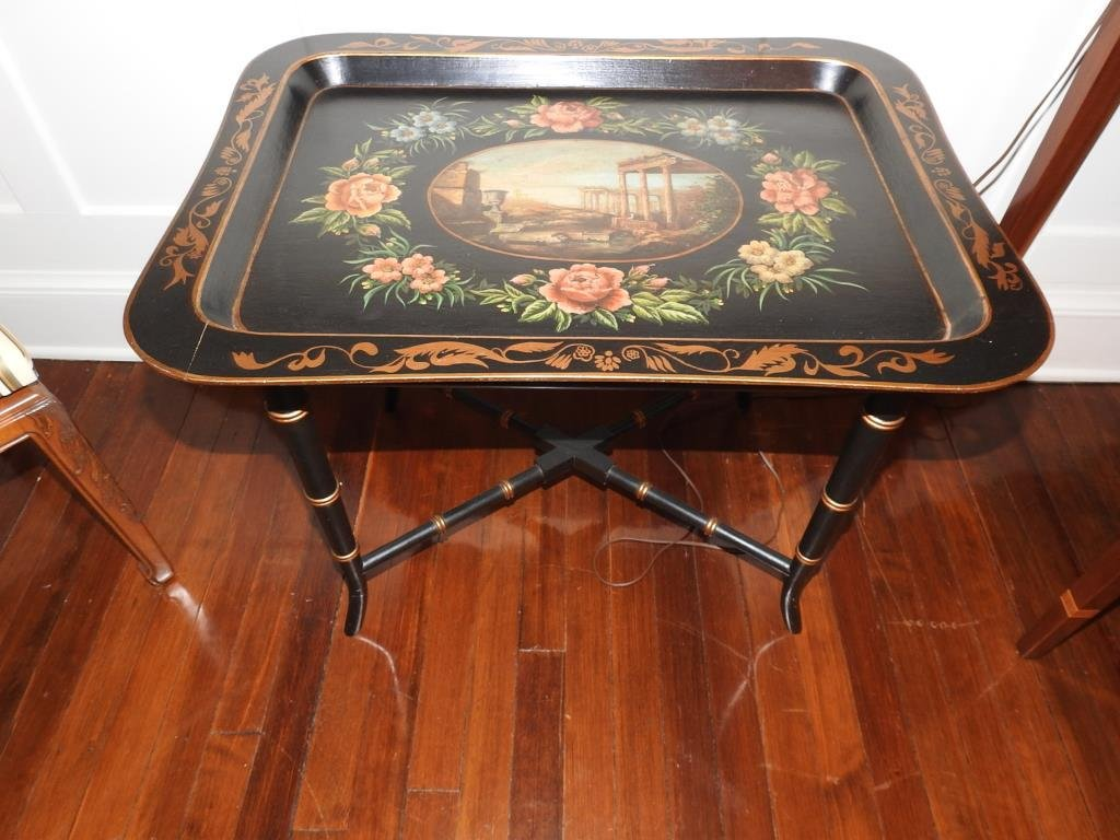 Pair Of Regency Style Tray Tables