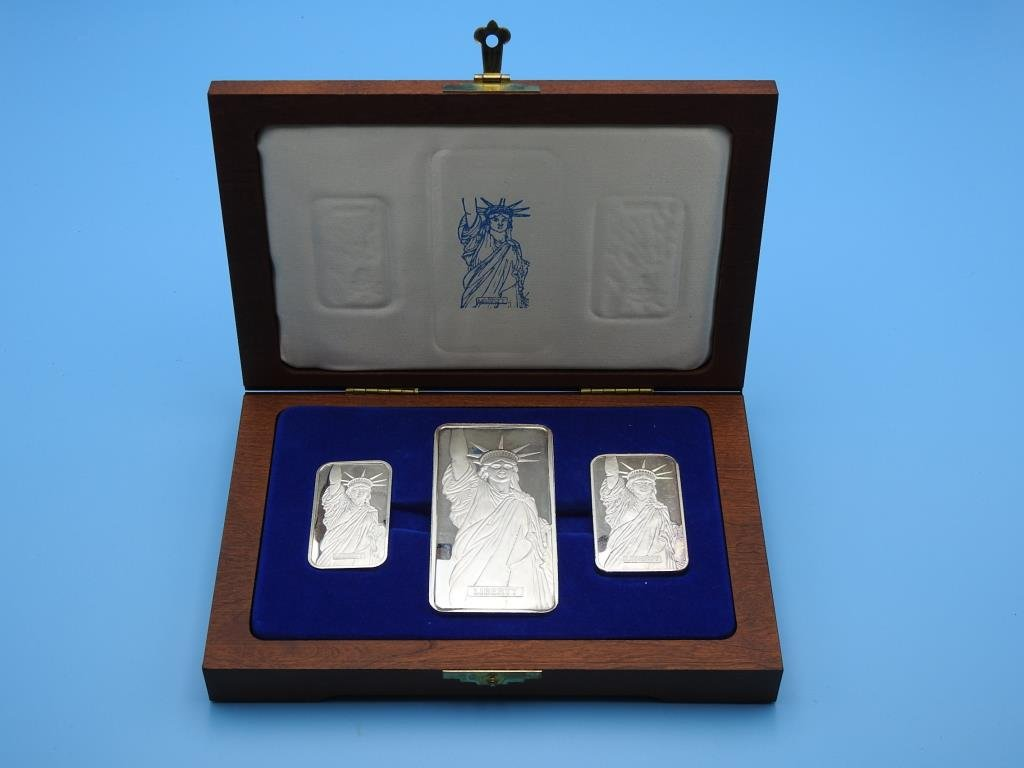 Sterling Silver Liberty Commemorative Set