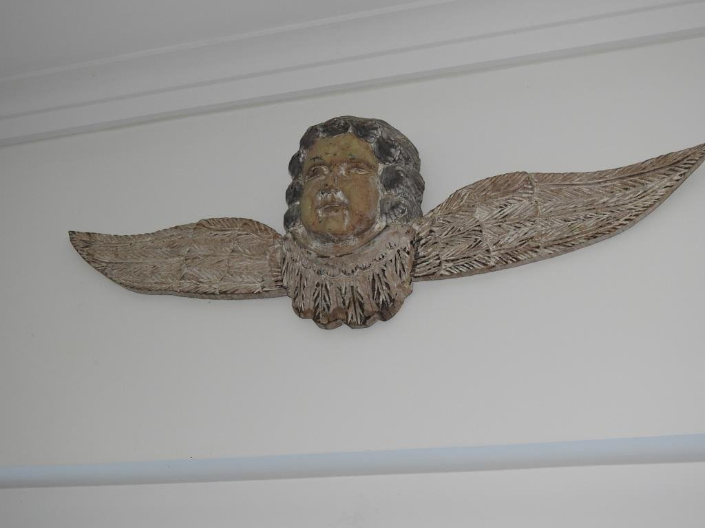 Carved Wall Hanging Angel