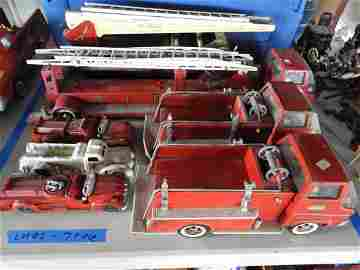 7 PC. FIRE TRUCK TOYS METAL