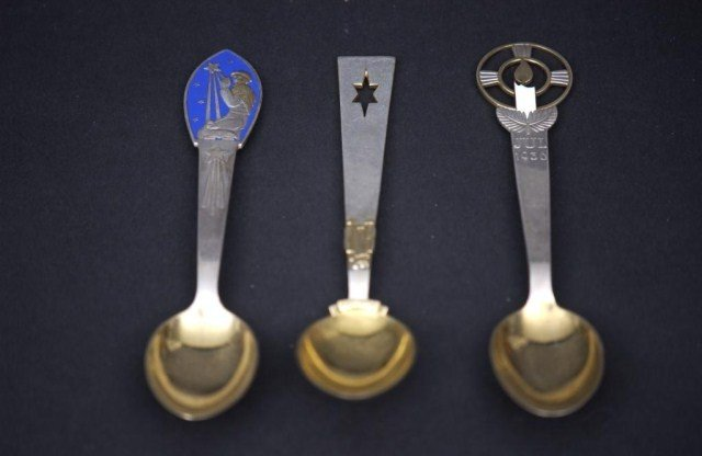7: 15 Danish SS Commemorative Spoons and Forks - 2