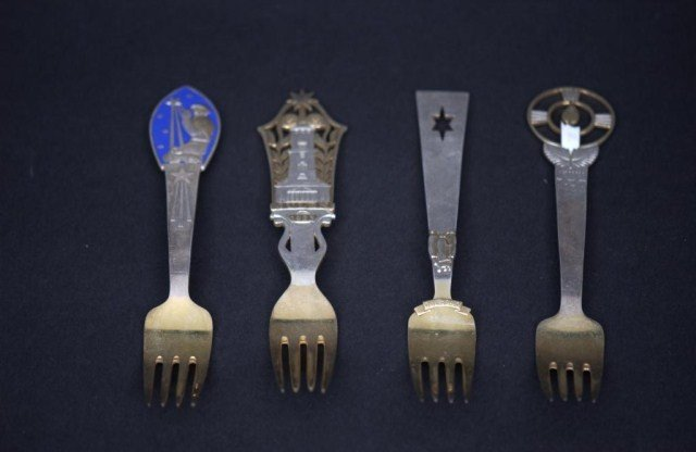 7: 15 Danish SS Commemorative Spoons and Forks - 3