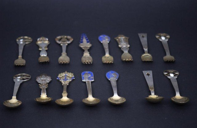7: 15 Danish SS Commemorative Spoons and Forks - 5
