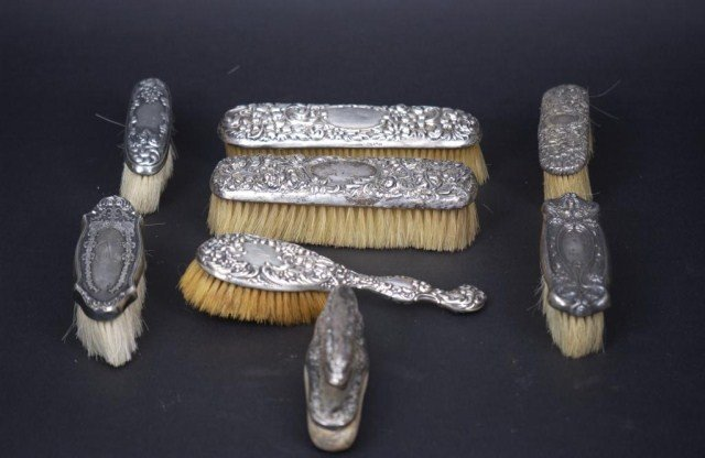 8: 8 Assorted SS Dresser Brushes (one lot)