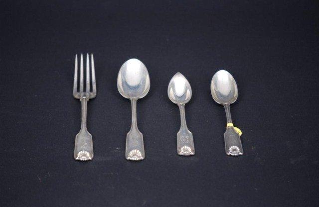 9: 21 Piece Sterling Silver Flatware Set