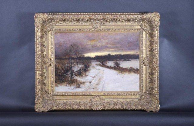 279: Bruce Crane, N.A. Oil on Canvas