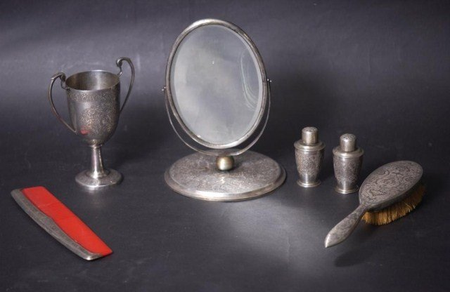 10D: 6 Persian Unmarked Silver Items