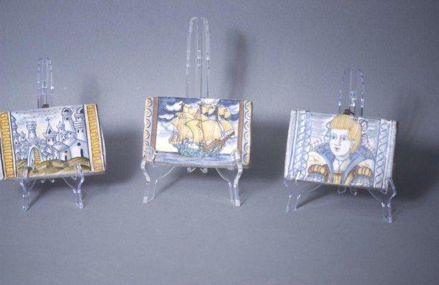 456: 3-Decorative Italian Tiles