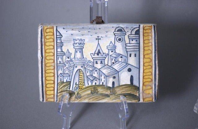 456: 3-Decorative Italian Tiles - 4