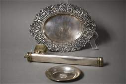 46A: 3 PCS. TURKISH SILVER 3 Pieces of Turkish Silver,