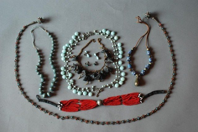 10: 10 PC. NATIVE AMERICAN INDIAN STYLE JEWELRY GROUP