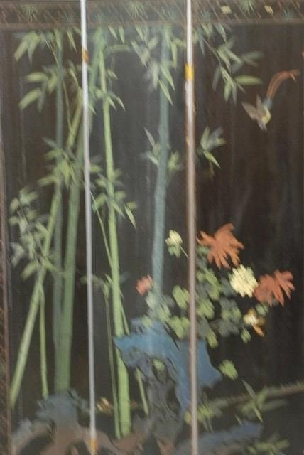 9: ANTIQUE CHINESE 4-PANEL SCREEN - 9