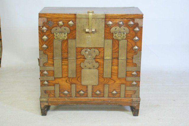 20: ANTIQUE CHINESE DROP-FRONT CHEST