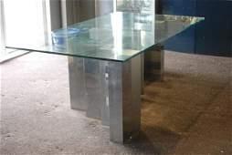 205 PAUL EVANS CITYSCAPE GLASS TOP TABLE