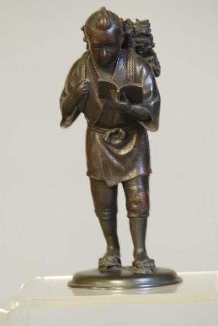 16A: JAPANESE BRONZE STATUE OF A STUDENT