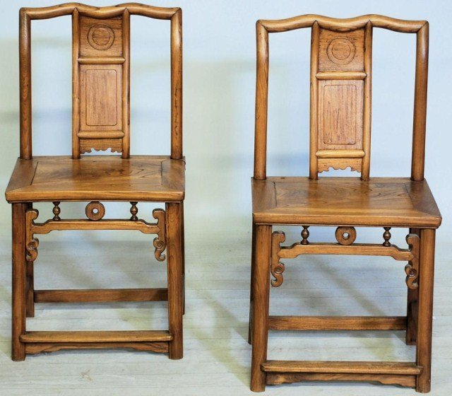 11: PR.ANTIQUE CHINESE HARDWOOD CHAIRS