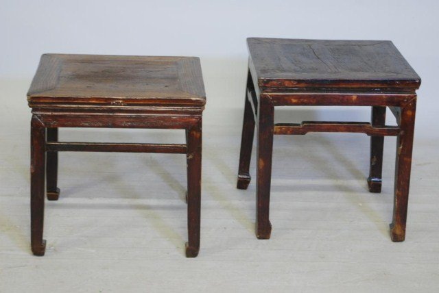 13: 2-ANTIQUE CHINESE LOW TABLES