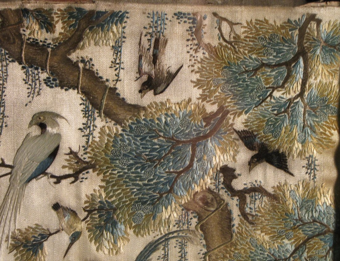 16: ANTIQUE CHINESE HARDWOOD TABLE SCREEN - 8