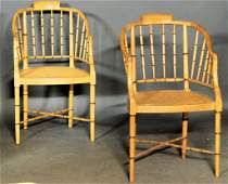 Baker Faux Bamboo Chairs