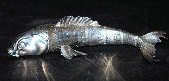 Silver Fish Form Vessel