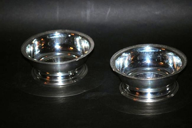 Pair of Continental Silver Bowls