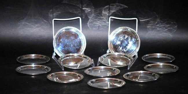 12 Continental Silver Trays