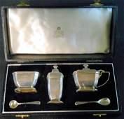 Birmingham English Silver Salt Set