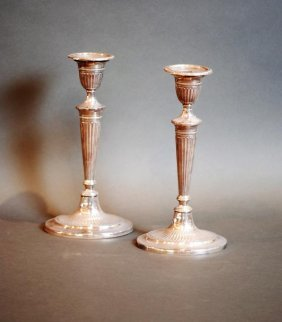 "Lot Of 2 S.s. English ""asprey"" Candlesticks"