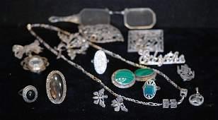 Lot of 17 Pcs SS  Marcasite Jewelry